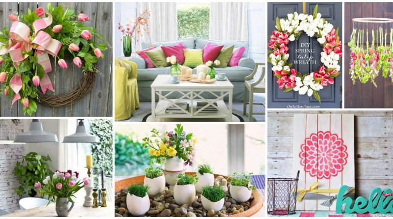 Seven inspiring spring home decor looks on a budget the for Spring home decorations